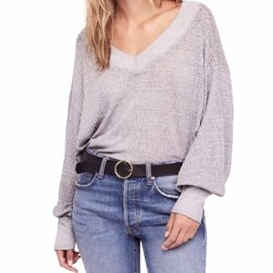 Nwot We the Free waffle knit slouch top shirt m